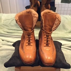 Brooks Brothers handmade Italy laced leather boots